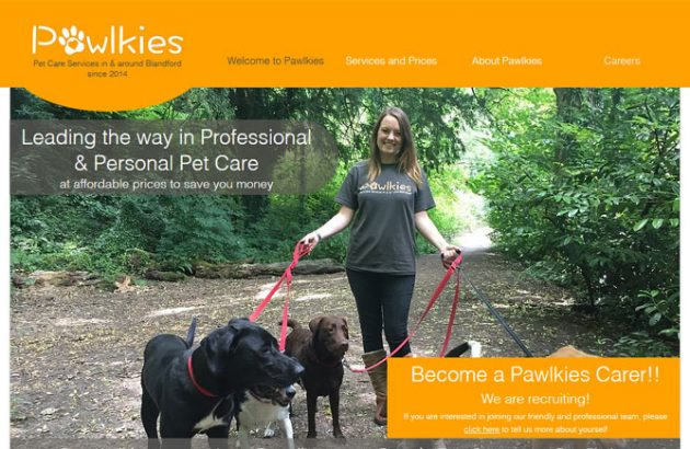 Pawlkies Pet Care Services in Blandford
