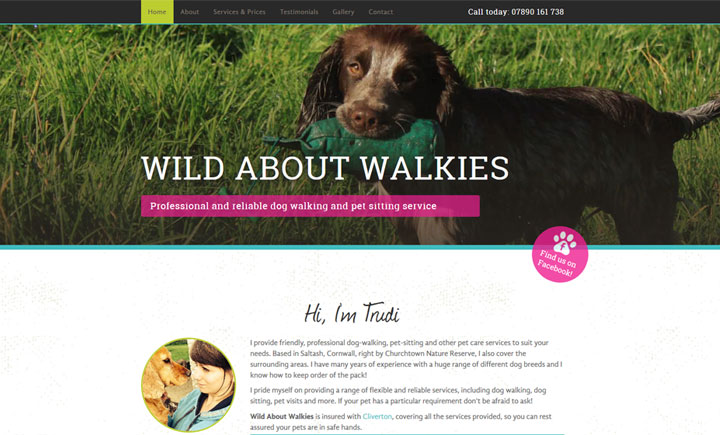 Wild about walkies, Saltash, Cornwall